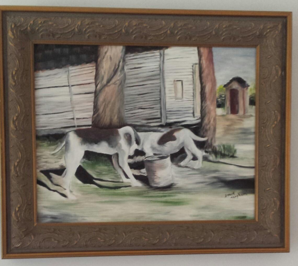 Grandpa's Hound Dogs